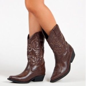 Madden Girl Brown Boots 'Saguine' Size Size 7.5